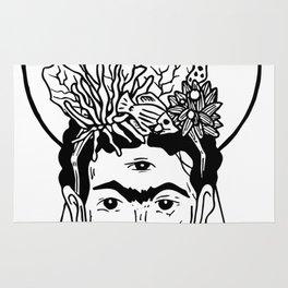 Frida en el caribe Rug