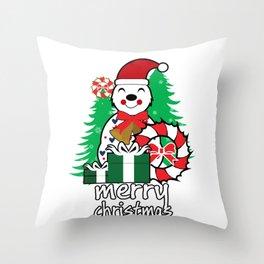 merry christmas vector image illustration Throw Pillow