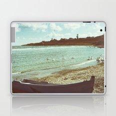 Swans in a lost fishing village Laptop & iPad Skin