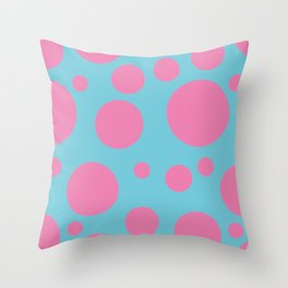 Bubbles Blue/Pink Throw Pillow