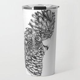 Black Cockatoo Portrait pen and ink Travel Mug