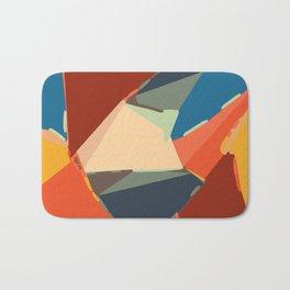 brown orange yellow and blue geometric graffiti painting abstract background Bath Mat