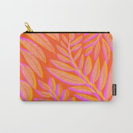 Hot Tropics II - Vertical Pink Orange Palette Carry-All Pouch