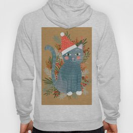 Blue Cat cute christmas xmas tree holiday funny cat art cat lady gift unique pet gifts Hoody