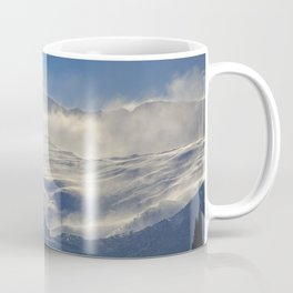 """Brave mountains"". Into the windy storm Coffee Mug"