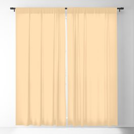 Spring - Pastel - Easter Peach Solid Color Blackout Curtain