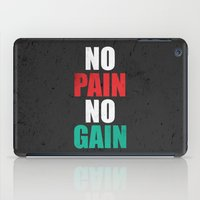 fitness iPad Cases featuring Lab No. 4 - Fitness Motivation Inspirational Gym Quotes Poster by Lab No. 4