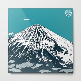 Mount Fuji from the Sky Metal Print