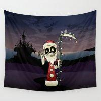 santa Wall Tapestries featuring Santa Death by mangulica