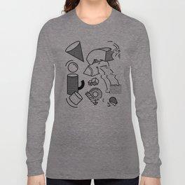 Pop Art Glitch Long Sleeve T-shirt