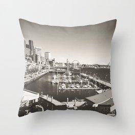 Gray Seattle Throw Pillow