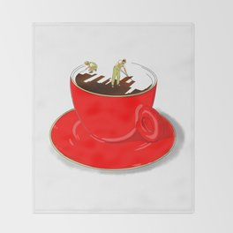 Paint My Coffee Throw Blanket