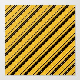 Potterverse Stripes - Hufflepuff Yellow Canvas Print