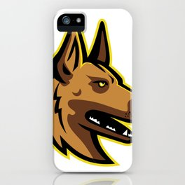 Belgian Malinois Dog Mascot iPhone Case