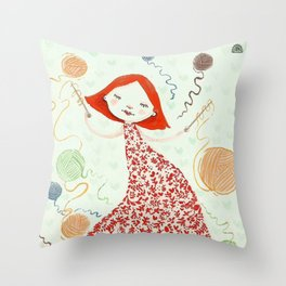 weaving dreams Throw Pillow