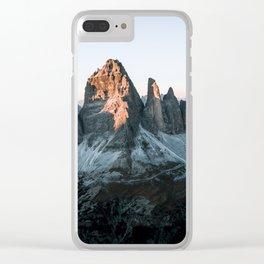 Dolomites sunset panorama - Landscape Photography Clear iPhone Case