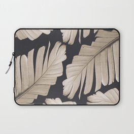 Sepia Banana Leaves Dream #1 #foliage #decor #art #society6 Laptop Sleeve