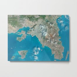 Athens Greece - High resolution satellite view of Earth from Space - Color Metal Print