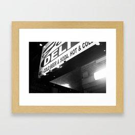 Brooklyn Deli Framed Art Print