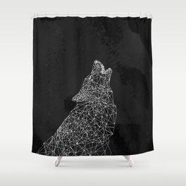 Midnight Wolf Shower Curtain