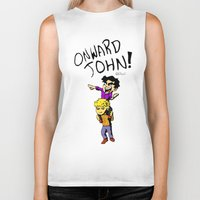 onward Biker Tanks featuring Onward John! by Rebekah Kroeplin