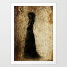 Woman In Black Art Print