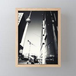Berliner Straßen Fotografie am Alexanderplatz Foto 2012 Framed Mini Art Print
