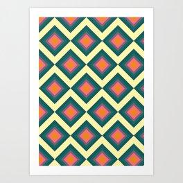 Retro Pattern VII Art Print