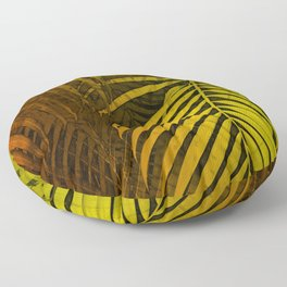 TROPICAL LEAVES GREEN MOCCA no4 Floor Pillow