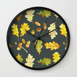 Oak Leaves and Acorns Wall Clock
