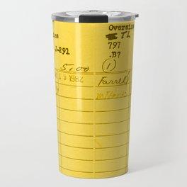 Library Card 797 Yellow Travel Mug