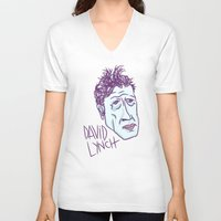 lynch V-neck T-shirts featuring DAVID LYNCH by Josh LaFayette