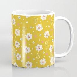 Tiny Pastel Mustard Daisies Coffee Mug