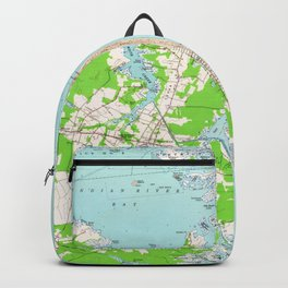 Vintage Map of Bethany Beach Delaware (1954) Backpack