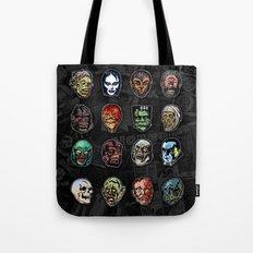 Horror Movie Monster Masks (color) Tote Bag