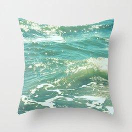 The Sparkling Sea Throw Pillow
