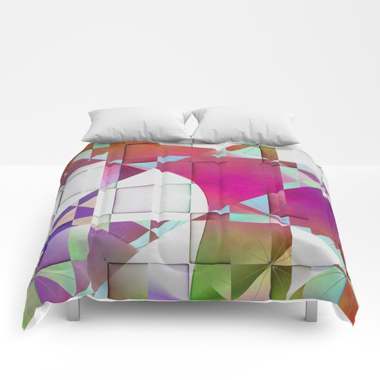 Multicolored abstract no. 64 Comforters