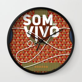 Som ao vivo (Live music) Wall Clock