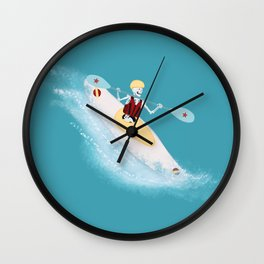 Whitewater Willy Wall Clock