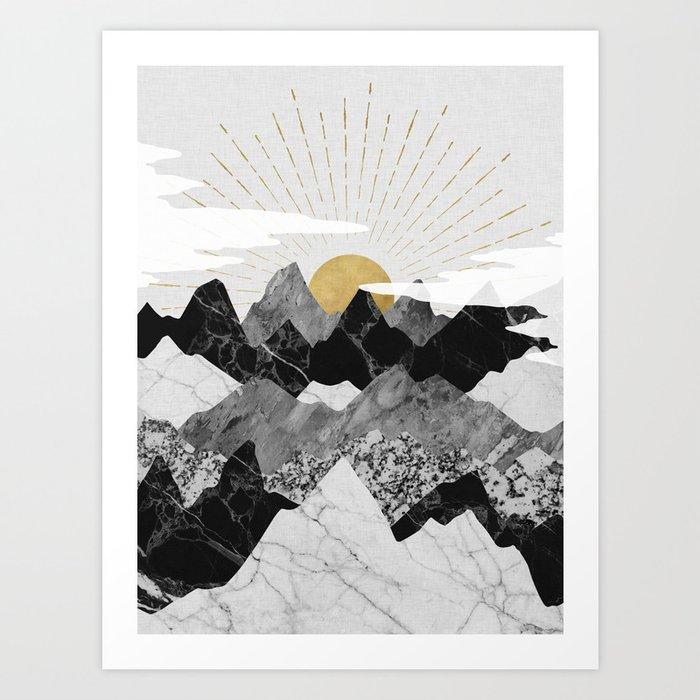 Sun rise Kunstdrucke