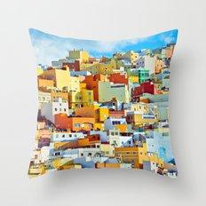 Las Palmas de Gran Canaria, Spain Throw Pillow