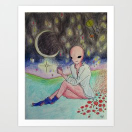 Space Goals Art Print