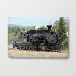 The Cumbres & Toltec Railroad - Engine No. 488 Metal Print
