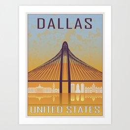 Dallas Vintage Poster Art Print