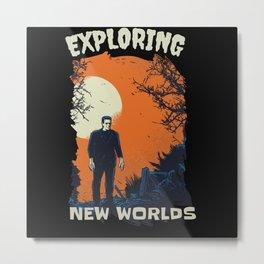 Horror Explorer Metal Print