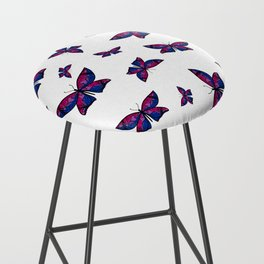 Fly With Pride: Bisexual Flag Butterfly Bar Stool