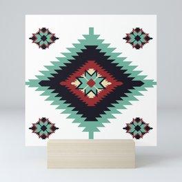 Southwest Santa Fe Geometric Tribal Indian Pattern Mini Art Print