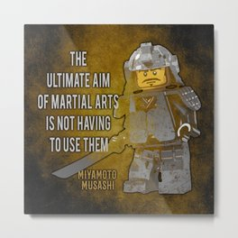 Samurai Musashi Martial Arts quote Metal Print
