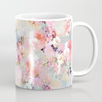 roses Mugs featuring Love of a Flower by Girly Trend