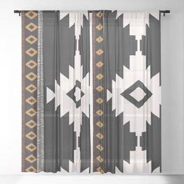 Pueblo in Sienna Sheer Curtain